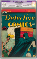 Golden Age (1938-1955):Superhero, Detective Comics #44 (DC, 1940) CGC Apparent VG 4.0 Slight (A) Cream to off-white pages....
