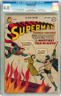Superman #76 (DC, 1952) CGC VG 4.0 Cream to off-white pages