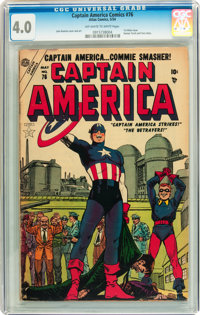 Captain America Comics #76 (Atlas, 1954) CGC VG 4.0 Off-white to white pages