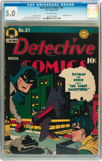 Detective Comics #61 (DC, 1942) CGC VG/FN 5.0 Off-white pages