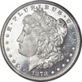 Morgan Dollars, 1878 7/8TF $1 Strong MS64 Deep Mirror Prooflike PCGS. VAM-41A....