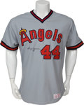 Baseball Collectibles:Uniforms, Early 1980's Reggie Jackson Game Worn California Angels Jersey....