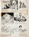 Original Comic Art:Comic Strip Art, Hal Foster Prince Valiant Sunday Comic Strip #1200Original Art dated 2-7-60 (King Features Syndicate,...