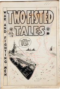 """Wally Wood Two-Fisted Tales #32 """"Silent Service"""" Cover Original Art (EC, 1953)"""
