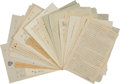Autographs:Letters, 1940's-50's Bowie Kuhn Correspondence Archive Lot of 45....