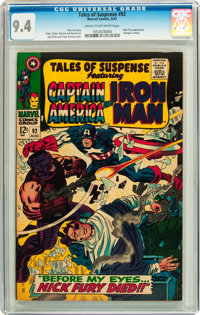 Tales of Suspense #92 (Marvel, 1967) CGC NM 9.4 Cream to off-white pages