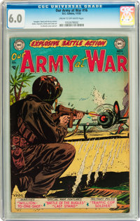 Our Army at War #16 (DC, 1953) CGC FN 6.0 Cream to off-white pages