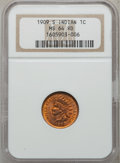 Indian Cents, 1909-S 1C MS64 Red NGC....
