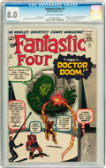 Silver Age (1956-1969):Superhero, Fantastic Four #5 (Marvel, 1962) CGC VF 8.0 Off-white to white pages....