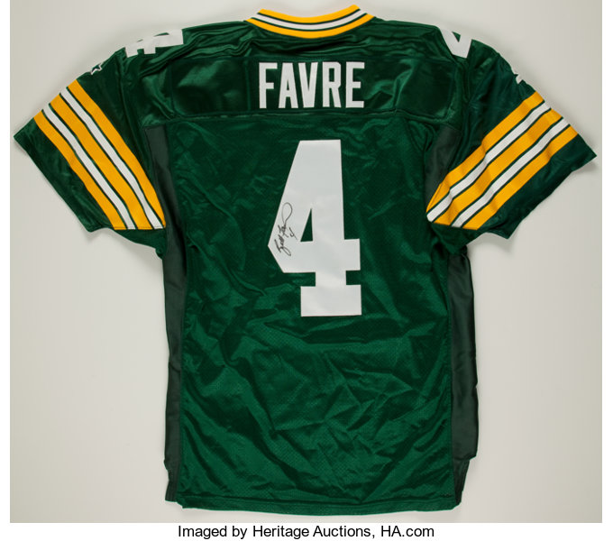 promo code 65ea9 fc91a Brett Favre Signed Authentic Green Bay Packers Jersey ...