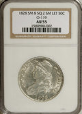 Bust Half Dollars, 1828 50C Small 8, Square Base 2, Small Letters AU55 NGC. O-119.Population: 4 in 55, 14 finer (7/07).Census: 0 in 55, 0 fin...