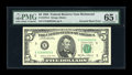 Error Notes:Inverted Reverses, Fr. 1978-E $5 1985 Federal Reserve Note. PMG Gem Uncirculated 65EPQ.. ...
