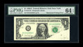 Error Notes:Printed Tears, Fr. 1915-B $1 1988A Federal Reserve Note. PMG Choice Uncirculated64 EPQ.. ...