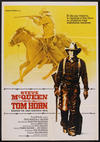 "Tom Horn (Warner Brothers, 1980). Spanish One Sheet (27.5"" X 39.5""). Western"