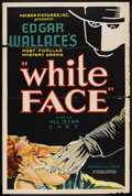 "Movie Posters:Mystery, White Face (Helber Pictures, 1932). One Sheet (27"" X 41""). Mystery...."