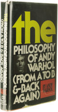 Books:Signed Editions, Andy Warhol: Signed Campbell's Soup Can Drawing on Half-Title Page of The Philosophy of Andy Warhol: From A To B & Back ...