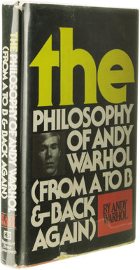 Andy Warhol: Signed Campbell's Soup Can Drawing on Half-Title Page of The Philosophy of Andy Warhol: From A To B & B...