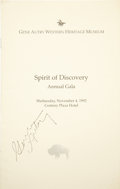 Books:Signed Editions, Gene Autry: Signed Program for the Gene Autry Western Heritage Museum Spirit of Discovery Annual Gala. Wednesday, Nove...