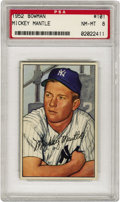 Baseball Cards:Singles (1950-1959), 1952 Bowman Mickey Mantle #101 PSA NM-MT 8. The Mick's sophomoreseason was greeted by what is arguably his most artful bas...