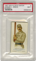 Baseball Cards:Singles (Pre-1930), 1887 N28 Allen & Ginter Adrian C. Anson Baseball PSA NM 7. Thefirst member of the 3,000 Hit Club sports a handlebar mustac...