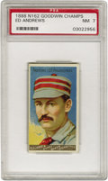 Baseball Cards:Singles (Pre-1930), 1888 N162 Goodwin Champs Ed Andrews PSA NM 7. An artful portrait ofthe Philadelphia Quakers outfielder is characteristic o...