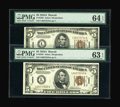 Small Size:World War II Emergency Notes, A Consecutive Pair of Fr. 2302 $5 1934A Hawaii Federal Reserve Notes. . ... (Total: 2 notes)