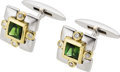 Estate Jewelry:Cufflinks, Tourmaline, Diamond, Gold Cuff Links, Jane Wullbrandt. ...
