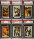 Non-Sport Cards:Sets, 1953 R709-1 Topps Fighting Marines Complete Set (96) Plus Wrapper....