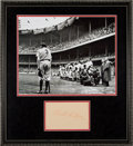 Autographs:Others, The World's Largest Babe Ruth Signed Autograph?...