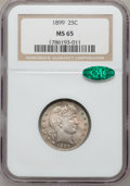 Barber Quarters, 1899 25C MS65 NGC. CAC....