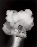 Photographs:20th Century, CORNELL CAPA (American, 1918-2008). Human Cannonball, Texas,1947. Gelatin silver, printed later. 12-7/8 x 10-1/8 inches...