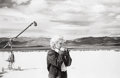Photographs:20th Century, EVE ARNOLD (American, b. 1913). Marilyn Monroe, on set of TheMisfits, Nevada Desert, 1960. Gelatin silver, printed late...