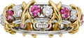 Estate Jewelry:Rings, Pink Sapphire, Diamond, Platinum, Gold Ring, Schlumberger, Tiffany& Co.. ...
