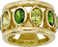 Estate Jewelry:Rings, Peridot, Chrome Diopside, Gold Ring, SeidenGang. ...
