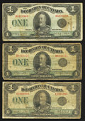 Canadian Currency: , $1 King George V Notes.. ... (Total: 3 notes)