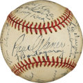 Autographs:Baseballs, 1944 Brooklyn Dodgers Team Signed Baseball....
