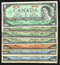 Canadian Currency: , 1954 and 1967 Notes.. ... (Total: 7 notes)
