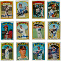 Autographs:Sports Cards, 1972 Topps Baseball Near Set (780/787) With 109 Autographed Cards!...