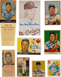 Baseball Cards:Singles (1950-1959), Signed 1949-1958 Duke Snider Baseball Card Collection (9). ...