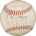 Autographs:Baseballs, 1972 New York Yankees Team Signed Baseball with Munson....
