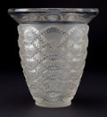 Art Glass:Lalique, R. LALIQUE CLEAR AND FROSTED GLASS GUIRLANDES VASE . Circa1935 . Stenciled: R. LALIQUE . 8-1/2 inches high ...