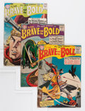 Silver Age (1956-1969):Superhero, The Brave and the Bold Group - Savannah pedigree (DC, 1956-59).... (Total: 3 Comic Books)
