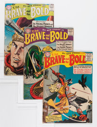 The Brave and the Bold Group - Savannah pedigree (DC, 1956-59).... (Total: 3 Comic Books)