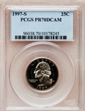 Proof Washington Quarters: , 1997-S 25C Clad PR70 Deep Cameo PCGS. PCGS Population (156). NGCCensus: (177). Numismedia Wsl. Price for problem free NGC...