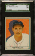 Baseball Cards:Singles (1940-1949), 1941 Play Ball Ted Williams #14 SGC 70 EX+ 5.5....
