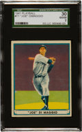 Baseball Cards:Singles (1940-1949), 1941 Play Ball Joe DiMaggio #71 SGC 30 Good 2....