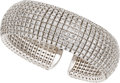 Estate Jewelry:Bracelets, Diamond, White Gold Cuff Bracelet. ...