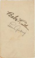 Autographs:Others, Circa 1930 Babe Ruth & Lou Gehrig Signed Album Page....