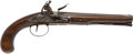 Handguns:Muzzle loading, Late 18th Century Iron Mounted British Flintlock Holster Pistol....