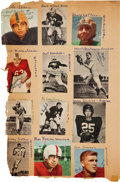 Football Collectibles:Others, 1940's and 1950's College Football Greats Multi Signed Scrapbook - 200+ Signatures....